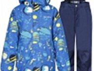 финская детская одежда Комплект для мальчика Куртка и брюки синий IcePeak - утеп