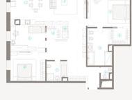 4-комнатная квартира на 6-ом этаже в ЖК Полянка 44 Просторная квартира площадью