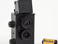 FOTOLOLO Двухобъективный фотоаппарат Сделай сам (Черный) Крутой фотоаппарат-конс