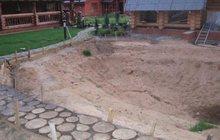 Строительство водоема и декоративная кладка камня