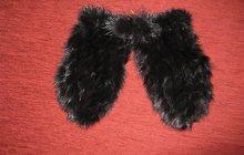 Женские зимние варежки из меха норки