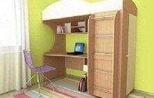 Кровать детская (3-12 лет) Облачко 1