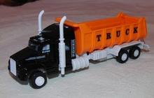 Грузовик Truck с оранжевым кузовом инерционная