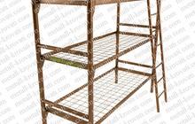Кровати одноярусные, кровати для вагончиков, кровати железные