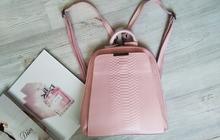 Пудровый рюкзак-трансформер женский