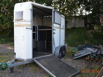 Скачать бесплатно изображение Прицепы для легковых авто Коневоз bateson на 2 лошади с 2 трапами 32300576 в Москве