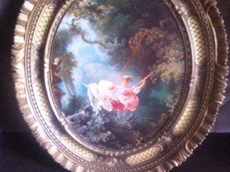 Уникальное фото Женская одежда Картина в овальной раме, Италия 32402257 в Москве