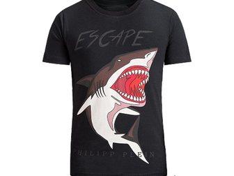 Просмотреть фотографию Мужская одежда Футболка Philipp Plein Shark 32556128 в Москве