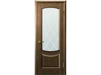 Увидеть foto  Межкомнатная дверь фабрики Современные двери, Лаура 2, Американский орех, ПО, стекло бронзовое с лазерной гравировкой с одной стороны, 32583985 в Москве