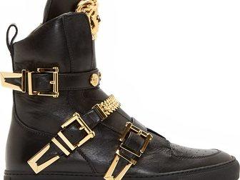 Смотреть foto Мужская обувь Сникерсы Versace leather medusa high-top 32605049 в Москве