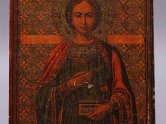 Увидеть изображение  Икона Пантелеймон - целитель, Россия, 19 век 32636213 в Москве