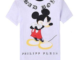 Свежее фотографию Мужская одежда Футболка Philipp Plein Mickey Bad Boy 32894121 в Москве