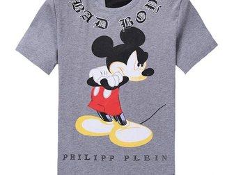 Смотреть фото Мужская одежда Футболка Philipp Plein Mickey Bad Boy 32894121 в Москве
