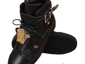 Скачать foto Мужская одежда Сникерсы Versace Leather Medusa High-Tops 2 32968639 в Москве