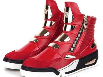 Свежее фотографию Мужская обувь Сникерсы Versace Golden Plate High-Top 32968940 в Москве