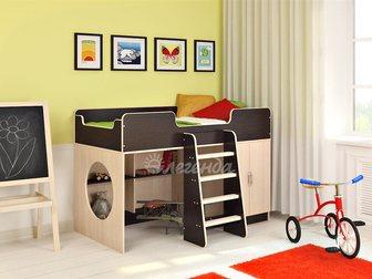 Увидеть фотографию  Детская кровать чердак Легенда 2 новая 33014719 в Москве