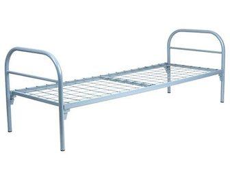 Скачать фотографию  Одноярусные металлические кровати от производителя, Железные армейские кровати, Опт, 33146619 в Москве
