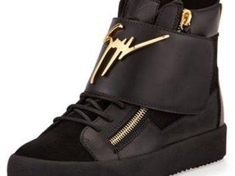 Свежее фото Мужская обувь Мужские сникерсы Giuseppe Zanotti High-Top 33290902 в Москве