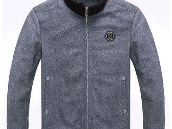 Уникальное foto Мужская одежда Мужская куртка Philipp Plein Woolen Coat 33303821 в Москве