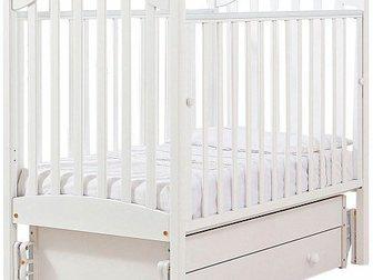 Скачать foto Детская мебель Продаю новую детскую кроватку-качалку Софи (гандылян, универсальный маятник) цвет белый 34074589 в Москве