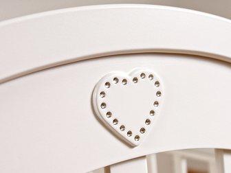 Скачать фотографию Детская мебель Продаю новую детскую кроватку-качалку Софи (гандылян, универсальный маятник) цвет белый 34074589 в Москве