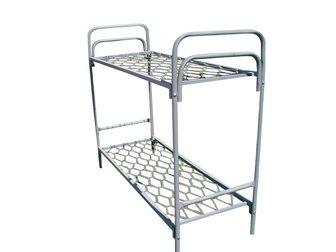 Скачать бесплатно фото Мебель для спальни Кровати металлические двухьярусная, для больниц, металлические кровати с ДСП спинками, кровати для бытовок, кровати оптом, От производителя, 34084754 в Ижевске