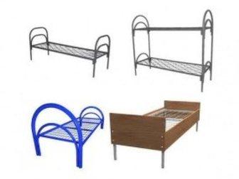 Просмотреть foto Мебель для спальни Кровати металлические двухьярусная, для больниц, металлические кровати с ДСП спинками, кровати для бытовок, кровати оптом, От производителя, 34084754 в Ижевске