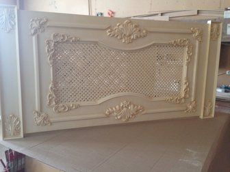 Скачать foto Производство мебели на заказ Декоративные решетки на радиатор,панели на стену с резным декором на заказ 34460095 в Москве
