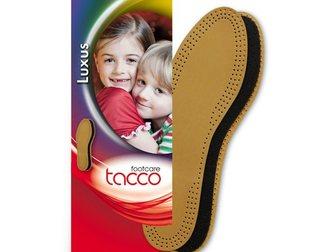 Скачать бесплатно foto  Tacco Luxus Kids Aрт, 613 - детская стелька двухслойная кожаная, 34581199 в Москве