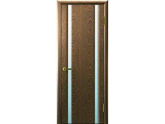 Увидеть изображение  Межкомнатная дверь фабрики Luxor, Синай 2, Американский орех, ПО, стекло белое, 34594726 в Москве
