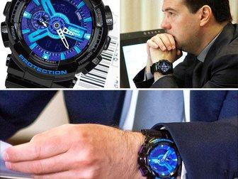 Скачать foto Часы Часы G-shock 110RG, черно-голубые 34753513 в Москве
