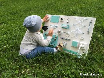 Новое фото  Детская развивающая доска - Бизиборд, 36350532 в Москве
