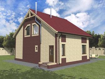 Уникальное foto  Тёплый деревянный дом в каменной рубашке! 37303490 в Москве