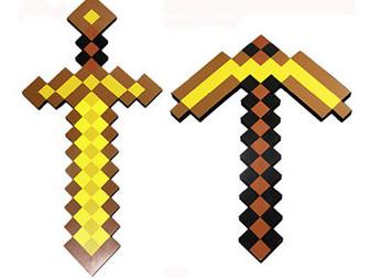 Уникальное фотографию  Алмазный меч, кирка и другие предметы Майнкрафт Minecraft 37879955 в Новосибирске