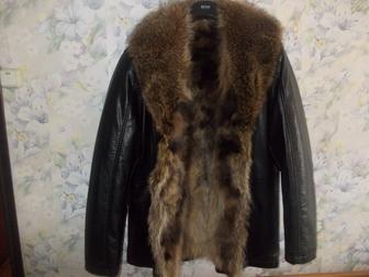 Новое foto  Куртка кожаная с мехом волка Италия 38003985 в Москве
