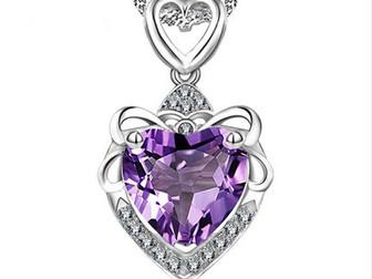Уникальное изображение  Серебряный циркон, Ожерелье Сердце Океана 39224350 в Липецке