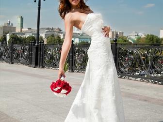 Скачать бесплатно фото Свадебные платья Платье свадебное со шлейфом айвори 39718203 в Москве