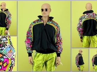 Уникальное изображение Спортивная одежда Анорак 90х Hotdogger, Rave Collection/Black/Multicolor 39921634 в Москве