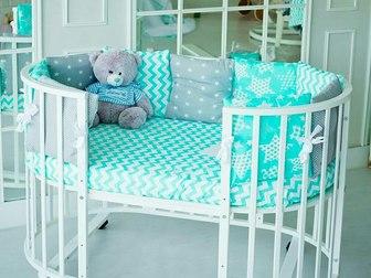 Смотреть фото  Детская круглая кроватка -трансформер 5 в 1! 40640393 в Москве
