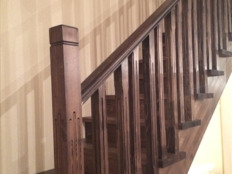 Смотреть изображение  Лестница с разворотом на 180 градусов, с забежными ступенями от производителя 46464095 в Москве