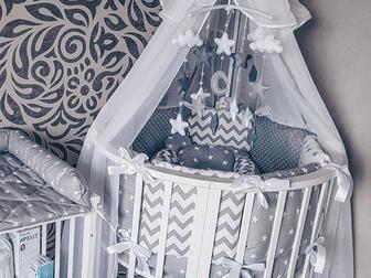 Смотреть фото Мебель для детей Кроватка трансформер 7 в 1 68316634 в Новосибирске