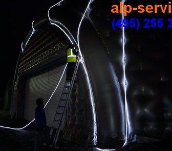 Изображение в Услуги компаний и частных лиц Разные услуги Произведем монтаж освещения фасадов и улиц в Москве 1500
