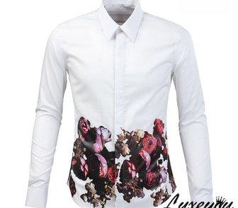 Изображение в Одежда и обувь, аксессуары Мужская одежда Стильная мужская рубашка с принтом цветов в Москве 5500