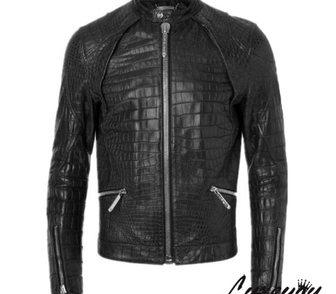 Фото в Одежда и обувь, аксессуары Мужская одежда Потрясающая кожаная куртка под рептилию для в Москве 11700