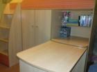 Уникальное изображение  Кровать-чердак со столом и шкафом для одежды 39272681 в Санкт-Петербурге