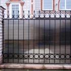 Забор из сотового поликарбоната 2 м