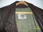 Уникальное изображение Мужская одежда Куртка мужская, кожаная, коричневая, с поясом, Италия, 54157829 в Новороссийске