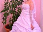 Изображение в Одежда и обувь, аксессуары Свадебные платья Продаю свадебное платье комплектом, шубка, в Новосибирске 18000