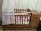 Изображение в Для детей Детская мебель Продам детскую кроватку трансформер. С матрасом, в Новосибирске 10000