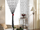 Фотография в Мебель и интерьер Шторы, жалюзи Продам нитяные шторы. Цвет - черный, с серебристым в Новосибирске 700